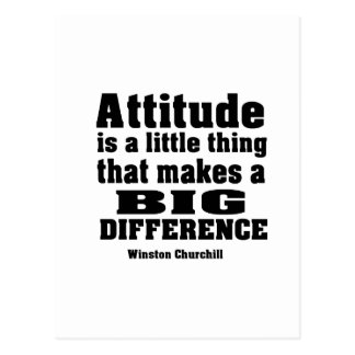 Attitude makes a big difference postcard