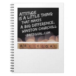 Attitude Makes a Difference Spiral Notebook