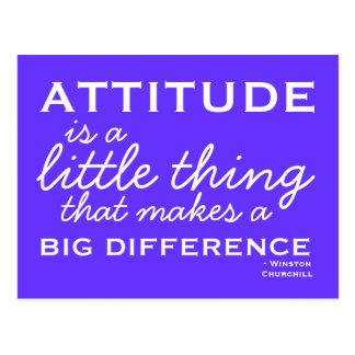 Attitude -  Motivational Postcard