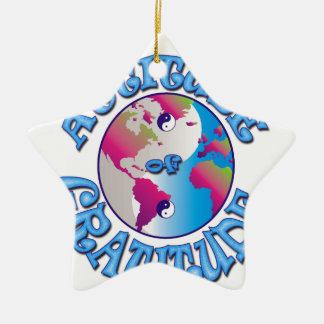 Attitude of Gratitude Ceramic Ornament