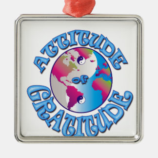 Attitude of Gratitude Metal Ornament