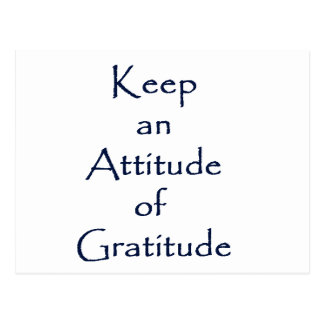 Attitude of Gratitude Postcard