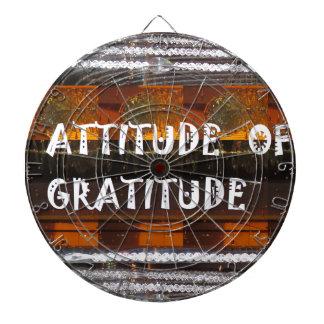 ATTITUDE of Gratitude  Text Wisdom Words Dart Board