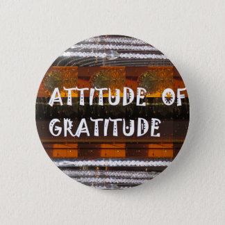 ATTITUDE of Gratitude  Text Wisdom Words Pinback Button