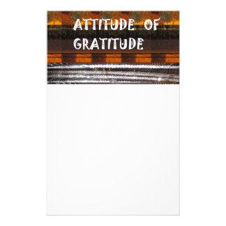 ATTITUDE of Gratitude  Text Wisdom Words Stationery