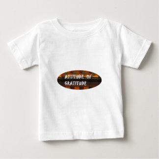 Attitude of Gratitude Wisdom Quote Slogan Theme Baby T-Shirt