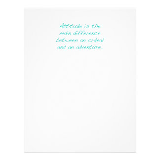 Attitude -- ordeal or  adventure (green) letterhead