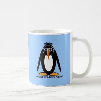 attitude penguin classic white coffee mug