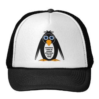 attitude penguin trucker hats