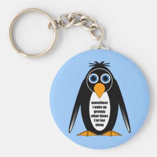 attitude penguin keychain
