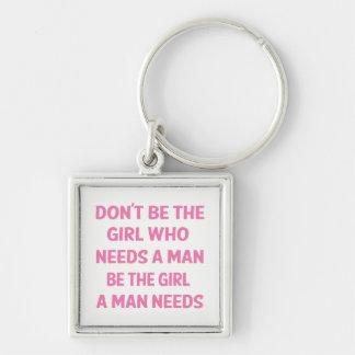 Attitude, Pink Girl Power, Feminism, Motivational Keychain