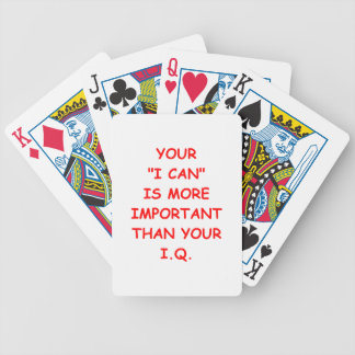 attitude bicycle playing cards