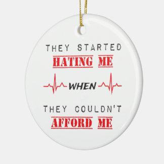 Attitude Quote On Circle Ornament