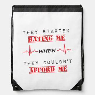 Attitude Quote On Drawstring Backpack