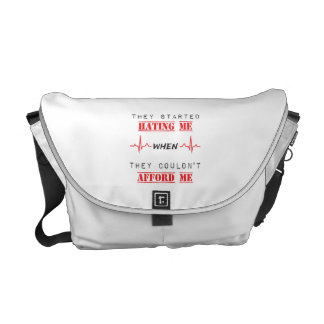 Attitude Quote On Messenger Bag Outside Print
