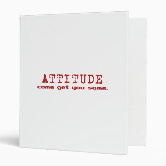 Attitude Red Binder