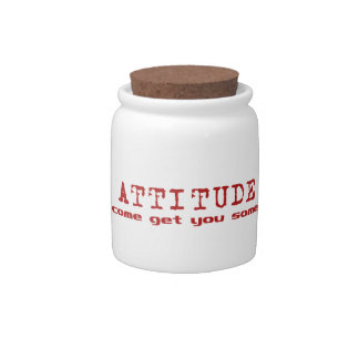 Attitude Red Candy Jar