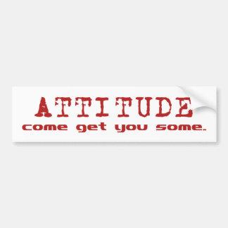 Attitude Red Car Bumper Sticker