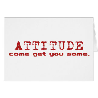 Attitude Red Greeting Card
