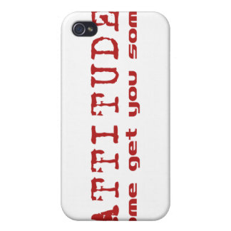 Attitude Red iPhone 4/4S Cover
