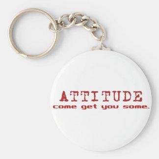 Attitude Red Keychain