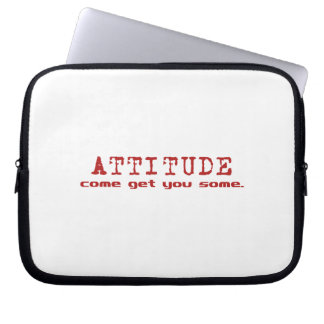 Attitude Red Laptop Sleeve