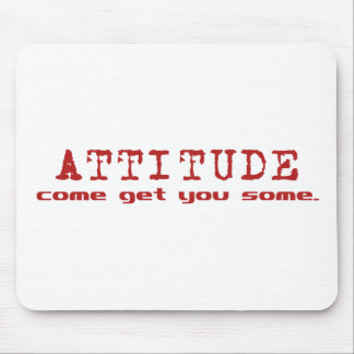 Attitude Red Mouse Pad