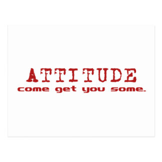 Attitude Red Postcard