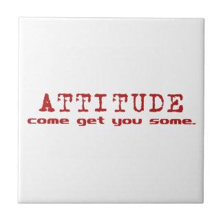 Attitude Red Tile