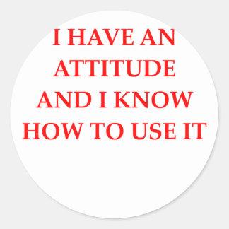 attitude sticker