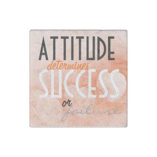 Attitude...Success Orange Heart Background Stone Magnet