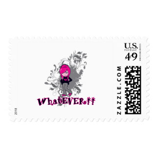 attitude whatever ermo girl vector art stamps