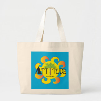 Attitude With Bling Large Tote Bag