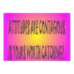 Attitudes Are Contagious 5x7 Paper Invitation Card