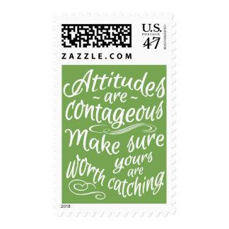 ATTITUDES custom color motivational postage stamps