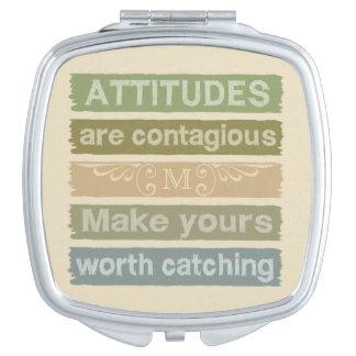 ATTITUDES custom monogram pocket mirror