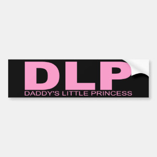 "Attitudes - ""Daddy's Little Princess"" Bumper Sticker"