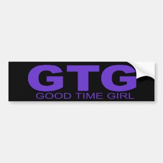 "Attitudes - ""Good Time Girl"" Bumper Sticker"