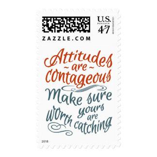 ATTITUDES motivational postage stamps