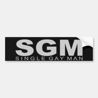 "Attitudes - ""Single Gay Man"" Car Bumper Sticker"