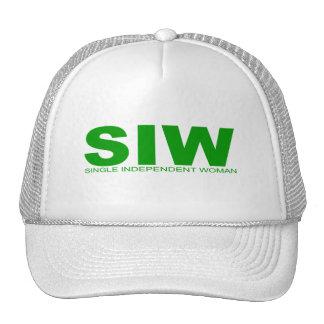 "Attitudes - ""Single Independent Woman"" Trucker Hat"
