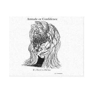 Attiude or Confidence Canvas Print