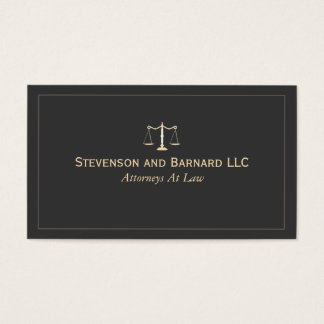 Attorney at Law Black Business Card