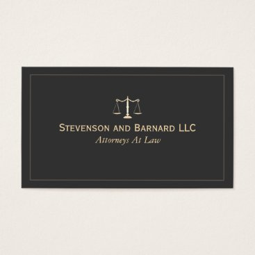 divorce Attorney at Law Black Business Card