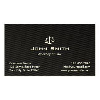 Attorney at Law Black Carbon Fiber Lawyer Double-Sided Standard Business Cards (Pack Of 100)