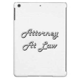 Attorney At Law Classic Job Design Cover For iPad Air