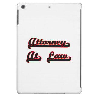 Attorney At Law Classic Job Design iPad Air Cover