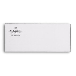 Attorney at Law Classic Plain Professional Lawyer Envelope