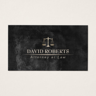 Attorney at Law Classy Chalkboard Lawyer Business Card