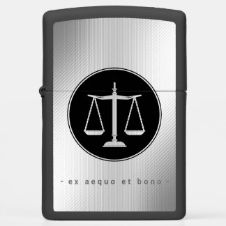 Attorney at Law | Classy Scales of Justice Zippo Lighter
